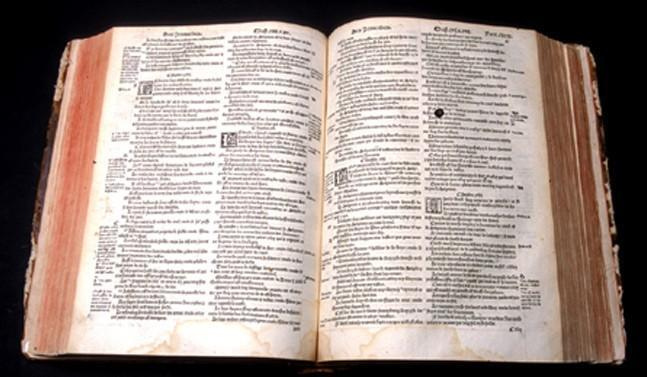 Bible d'Olivétan en français, Edition de 1535 par Pierre de Wingle à Neuchâtel