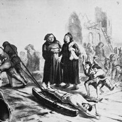 Cadavre d'un protestant traîné sur la claie