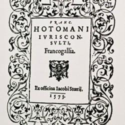 Francogallia de François Hotman