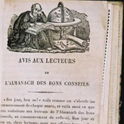 Almanach des bons conseils, Paris, Société des Traités religieux, 1826-1866