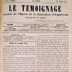 Le Témoignage, Journal de l'Eglise luthérienne d'Alsace-Lorraine, créé en 1865