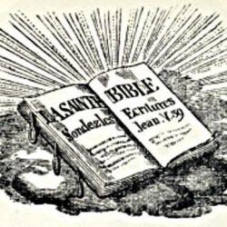Logo de la Société des Traités religieux de Paris, 1898.