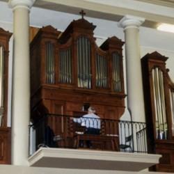 Saint-Jean-du-Gard (30) :  orgue de l'église réformée, construit en 1827