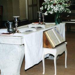 Table de communion du Temple de Saint-Jean-du-Gard (30)