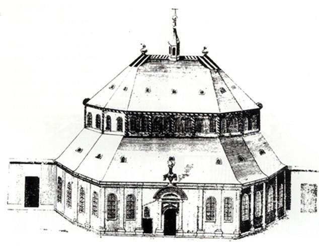 Temple de Bourg-l'Abbé à Caen (Calvados)