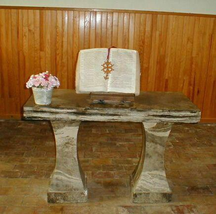 Table de Communion du temple de Saint-Jean-de-Maruejols (Gard)
