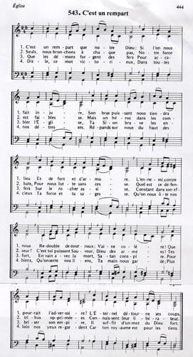 Cantique de Luther, « C'est un rempart que notre Dieu»