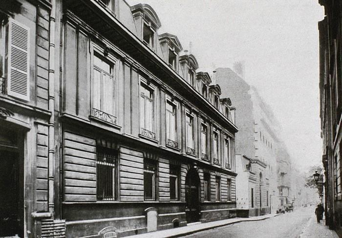 Siège social de la maison Mallet de 1862 à 1928 - 37 rue d'Anjou à Paris