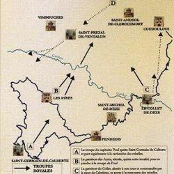 Carte des combats de Champdomergue