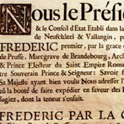 Naturalisation de Sévanier à Neufchâtel (14 septembre 1712)