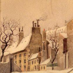 Paris, vieux bâtiments de la Manufacture des Gobelins 1898