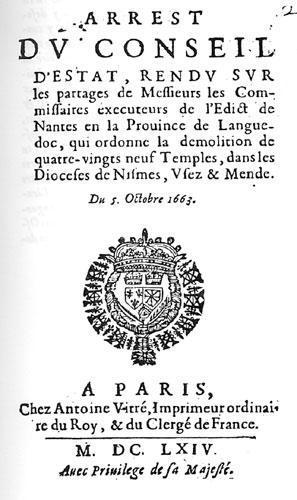 Démolition de 89 temples en Languedoc (1663)
