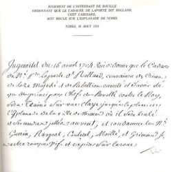 Condamnation post-mortem de Rolland, mort en 1704, dans une embuscade