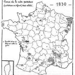 Lieux de culte protestants en 1830