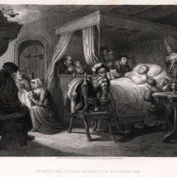 La mort de Luther 18 février 1546 (gravure de Pardimel d'après Labouchère)