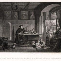 Scène domestique dans la maison de Luther, 1536