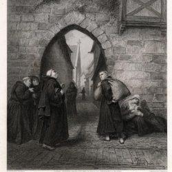 L'appel de Dieu à Luther, Erfurth 1505