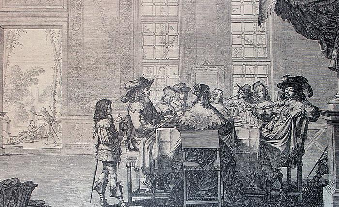 Gravure d'Abraham Bosse, Le mauvais riche