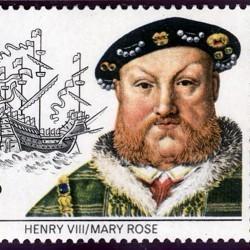 Timbre représentant Henri VIII