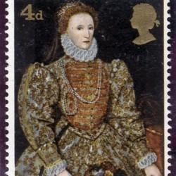 Timbre représentant Elisabeth Première
