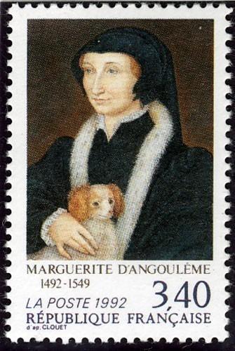 Timbre représentant Marguerite d'Angoulême