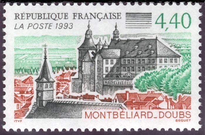 Timbre : la ville de Montbéliard