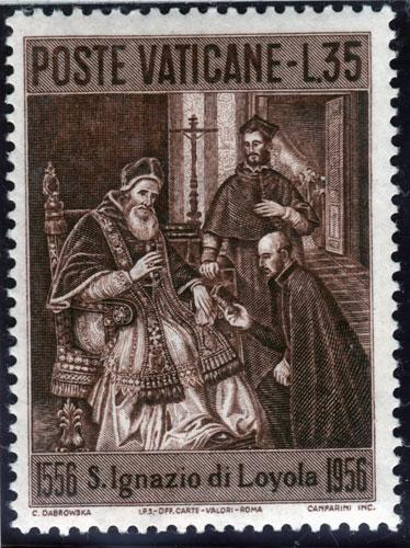 Postage stamp: Paul III's approval of the founding of the