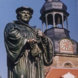 Statue de Martin Luther à Eisleben