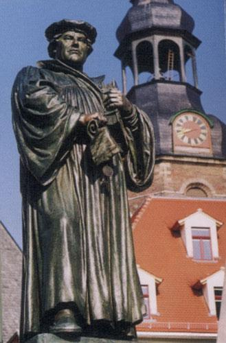 Statue of Martin Luther in Eisleben