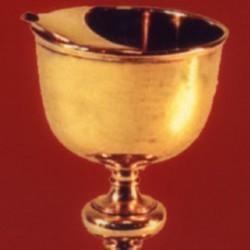 Coupe de communion avec versoir, en vermeil, cadeau du roi de Suède, 1723