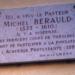 Plaque du Pasteur Michel Bérauld, Montauban