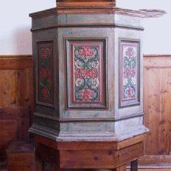 Temple de Saint-Véran, (05), chaire démontable en 4 parties -