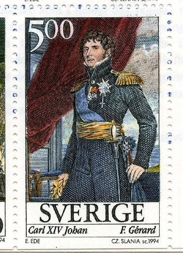 Maréchal Bernadotte, devenu Charles XIV de Suède, timbre