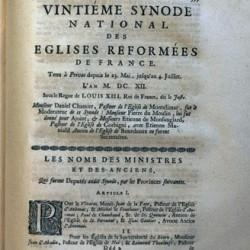 Actes du XXe synode national de Privas (Ardèches), 1612