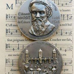 Clément Marot, médaille commémorative