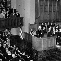 Réunion du Conseil Œcuménique des Églises à Evanston (USA) en 1954