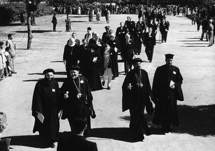 Conseil Mondial des Églises à New Dehli en 1961- service inaugural