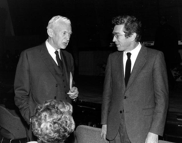 Maurice Couve de Murville et Pierre Joxe