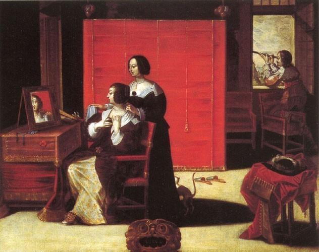 La vue d'après la gravure d'Abraham Bosse, Anonyme, XVII<sup>e</sup> siècle