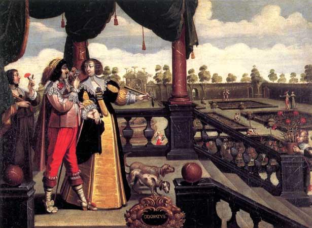 L'odorat d'après la gravure d'Abraham Bosse, Anonyme, XVII<sup>e</sup> s.