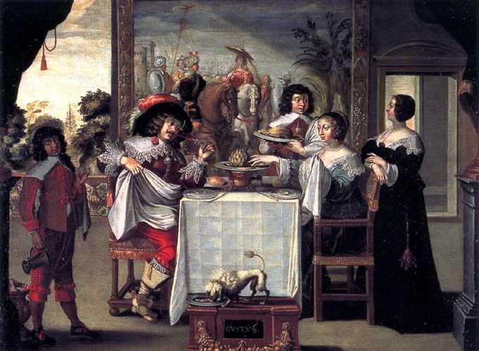 Le goût d'après la gravure d'Abraham Bosse, Anonyme, XVII<sup>e</sup> s.