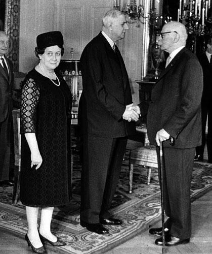 Le pasteur Marc Boegner et le Général de Gaulle