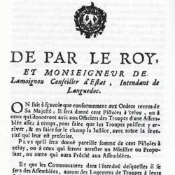 Ordonnance de Basville, mars 1686
