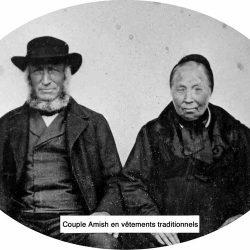 Couple amish, portrait daguerréotype du milieu du XIXe siècle