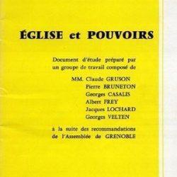 Eglise et Pouvoir : Bulletin 165 du CPED, décembre 1971