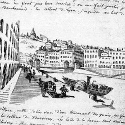 Lyon, Fourvière vu du quai de Saône