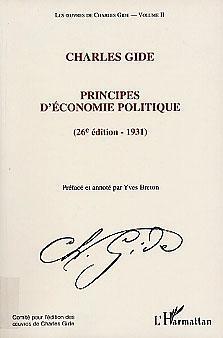 Couverture des Principes d'économie de Charles Gide