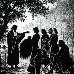 Baptême au Désert, après la Révocation de l'Edit de Nantes.