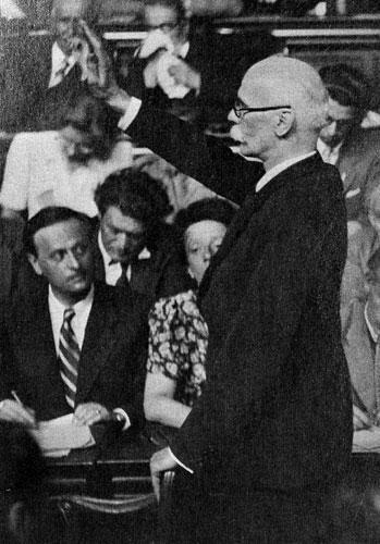 Le Pasteur Boegner au procès du Maréchal Pétain