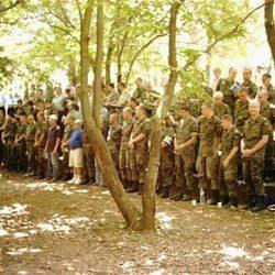 Aumôniers militaires à un culte à Mialet (Gard)